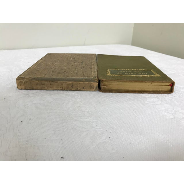 "Late 19th Century Antique ""Lady of the Lake"" Soft Leather Bound Etruscan Edition Book For Sale - Image 5 of 13"