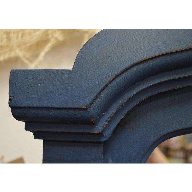 Mirrored 8-Drawer Navy Blue Dresser - Image 8 of 11