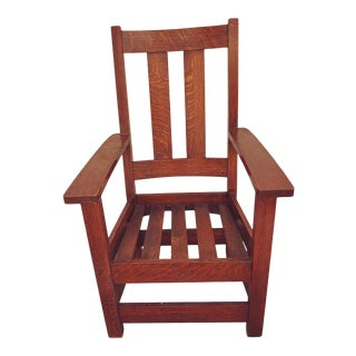 Antique Limbert Arts and Craft Chair For Sale