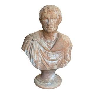 19th Century Italian Renaissance Style Terra Cotta Caesar Augustus Bust For Sale