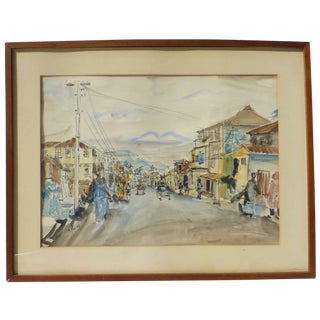 1960's South American Street Painting For Sale
