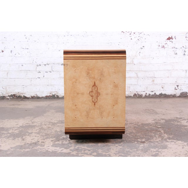 Burled Olive Wood Credenza by Henredon For Sale - Image 11 of 13