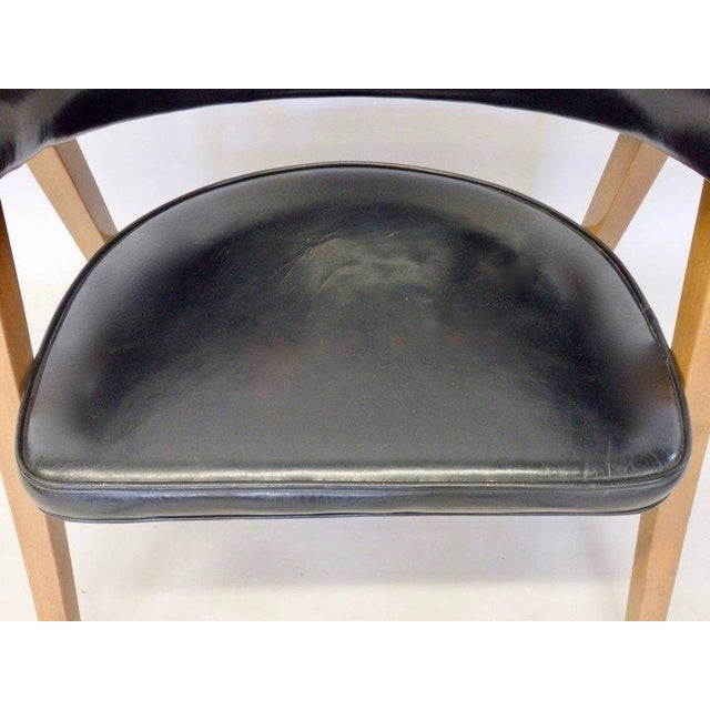 Edward wormley for dunbar lounge chair with black leather