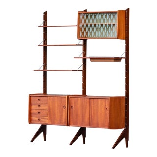 1960s Danish Modern Blindheim Møbelfabrik Ergo of Norway Wall Unit For Sale