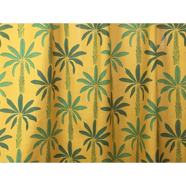 Contemporary Tropical Fabric in Gold Yellow, 5 Yards For Sale - Image 3 of 4