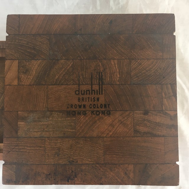 Brown Dunhill Vintage British Crown Colony Teak Humidor Box For Sale - Image 8 of 8