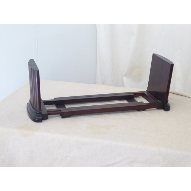 Traditional Vintage Traditional Mahogany Column Form Bookends For Sale - Image 3 of 5