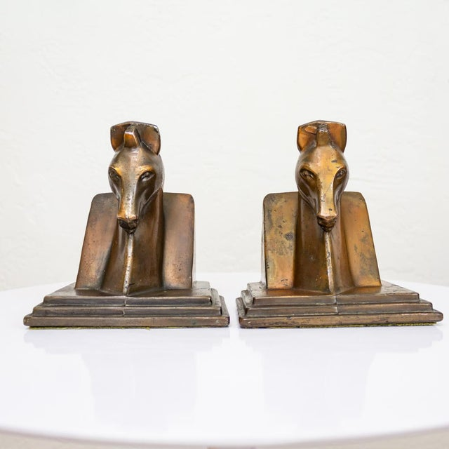 Trojan Horse Bookends | Art Deco Copper Plated For Sale - Image 10 of 10