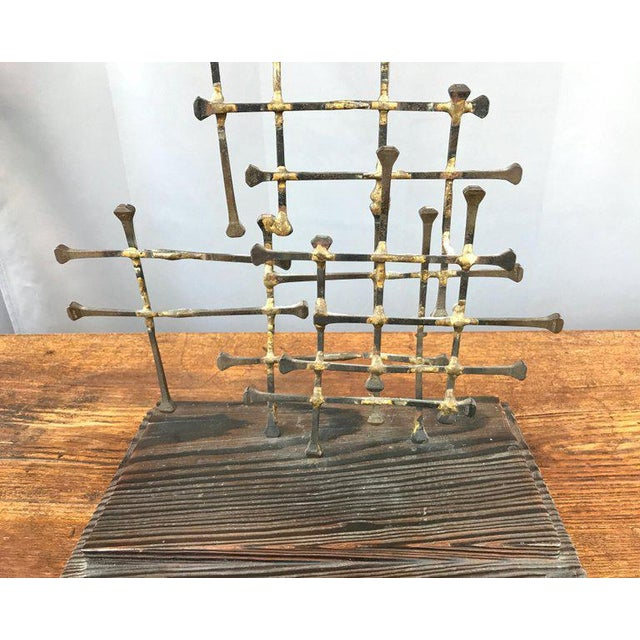 Midcentury Large Brutalist Abstract Nail Art Sculpture For Sale - Image 10 of 12