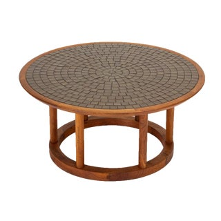 Gordon & Jane Martz Round Tile Table for Marshall Studios For Sale