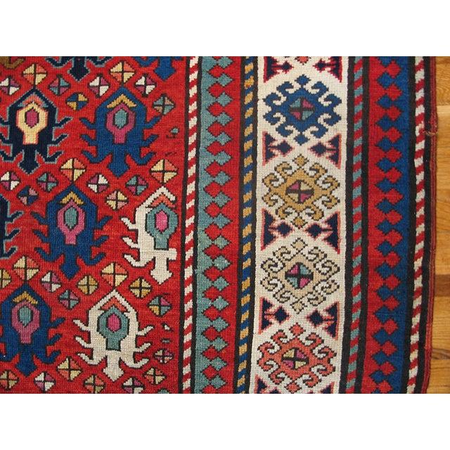 """Antique Caucasian - Kazak Rug 4'0"""" X8'6"""" For Sale - Image 4 of 7"""