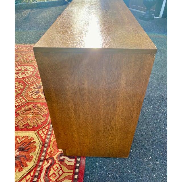 1970s Mid Century Modern Bernhardt Walnut Campaign Dresser For Sale - Image 10 of 13