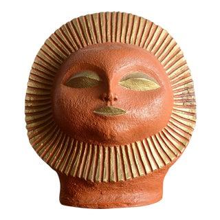 Mid-Century Modern Paul Bellardo Style Sun Face Sculpture