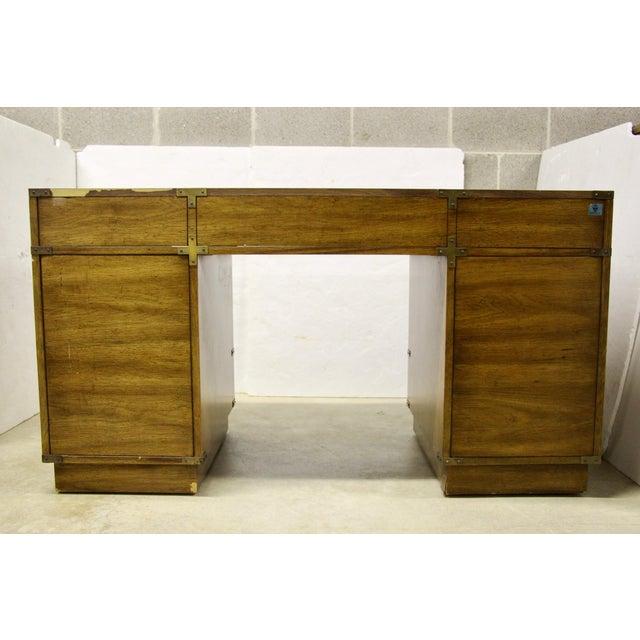 Gold Bernhardt Campaign Partner Desk For Sale - Image 8 of 12