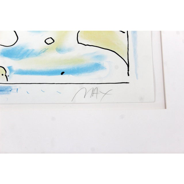 Mid-Century Modern Framed Print by Peter Max Cosmic Face Signed Numbered For Sale In Detroit - Image 6 of 8