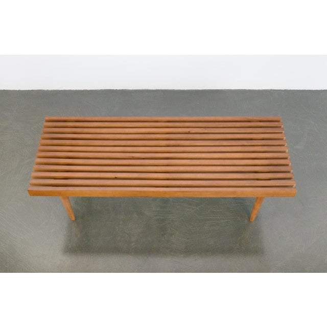 Mid-Century Modern Modern Nelson Style Slat Bench For Sale - Image 3 of 7