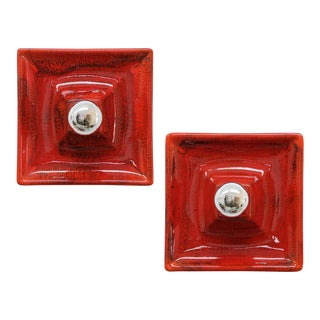 Ceramics Wall Lights, 1970 - a Pair For Sale