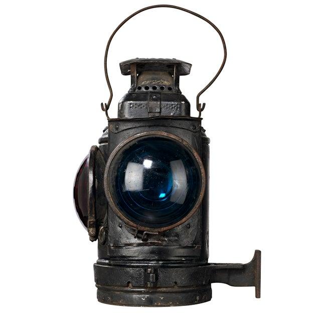 Three Lens Adlake Railroad Switching Lantern/Light For Sale - Image 9 of 12