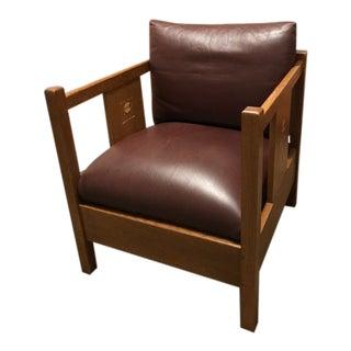 1990s Vintage Stickley Harvey Ellis Edition Cube Chair For Sale