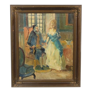 "Lady in Waiting Portrait ""Scene Af Julestuen"" by Ludvig Jacobsen For Sale"