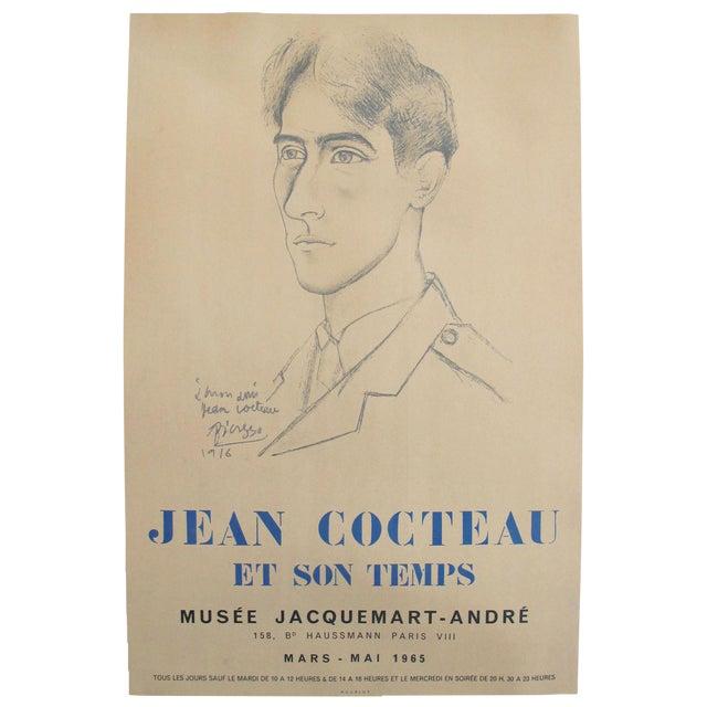1965 Original Picasso Exhibition Poster, Jean Cocteau For Sale