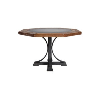 Contemporary Oliver Wood and Iron Poker Table