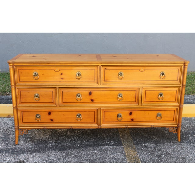 Mid-Century Faux Bamboo Dresser by Baker - Image 2 of 11