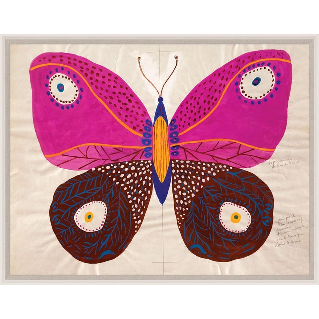 Contemporary Paule Marrot, Butterfly Pink, Framed Artwork For Sale - Image 3 of 3