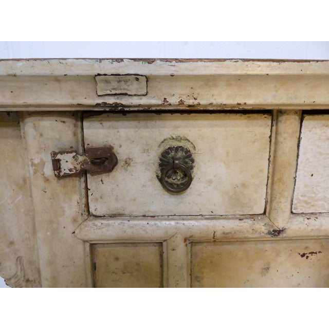 White Antique Ming Altar Table For Sale - Image 8 of 11