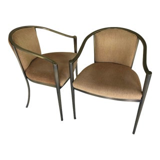 1990s Vintage Design Institute of America Metal Side Chairs- a Pair For Sale