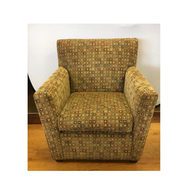 Maurice Villency Mid-Century Modern Upholstered Arm Club Chair For Sale - Image 10 of 10