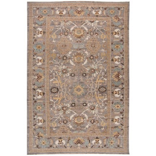 21st Century Modern Sultanabad Wool Rug 12 X 19 For Sale