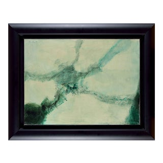 """Lyrical Abstraction Oil Painting by Léon Zack - """"Untitled"""" For Sale"""