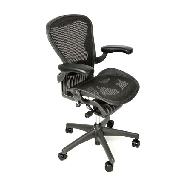 Herman Miller Herman Miller Aeron Fully Loaded Chair, Size B For Sale - Image 4 of 4