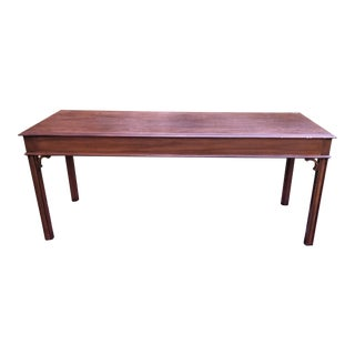 Chippendale Solid Cherry Console Table For Sale