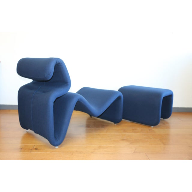 1970s Ribbon Lounge Chair and Ottoman by Oliver Mourgue For Sale - Image 5 of 12