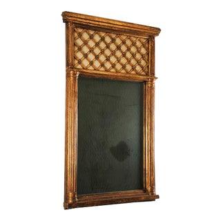 Antique Empire Style Gold Leaf Mirror
