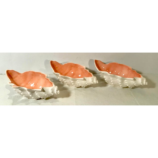 Vintage Fitz and Floyd Shell Shaped Bowls - Set of 3 For Sale - Image 13 of 13