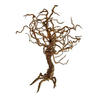 Brass Wire Tree Sculpture For Sale