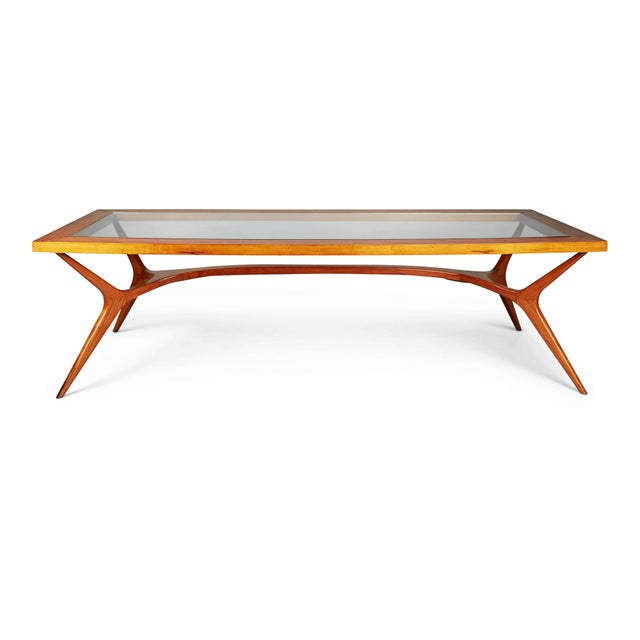 1950s Vintage Giuseppe Scapinelli Brazilian Sculptural Dining Table For Sale - Image 11 of 11