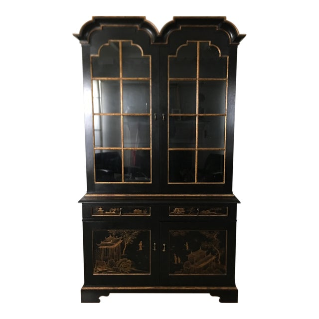 John Hall Designs Chinese Chippendale Cupboard For Sale