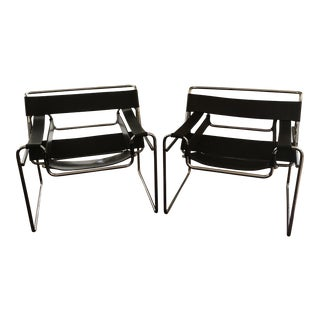 1960's Marcel Breuer Wassily Chairs - a Pair For Sale