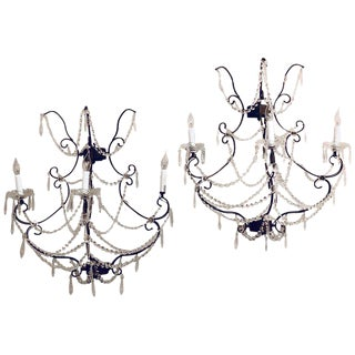 Metal Timothy Oulton Paris Wall Sconces - a Pair