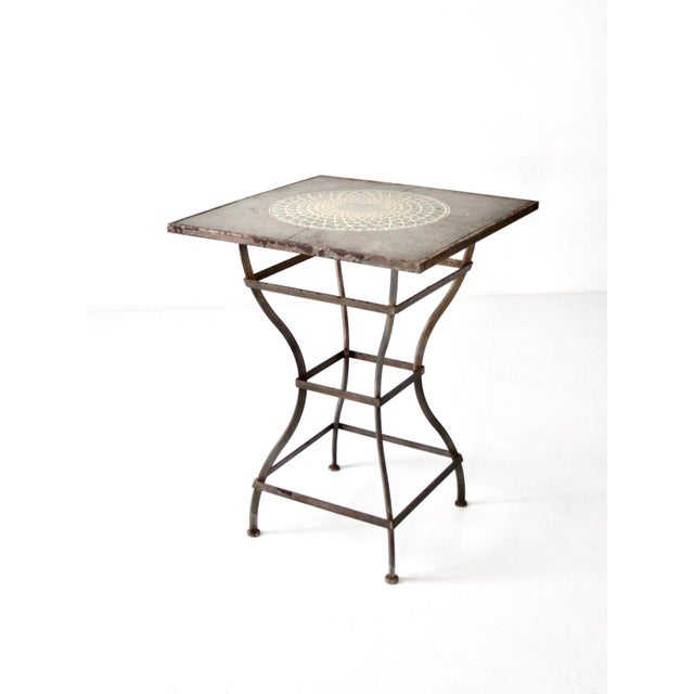 Vintage Mosaic Tall Patio Table - Image 11 of 11