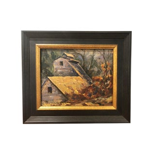 """Barn in Autumn"" by Alexander Poplaski For Sale"