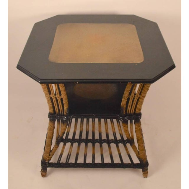 1930s Art Deco Wicker Table For Sale - Image 5 of 8