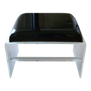 1970s Vintage Lucite Bench For Sale