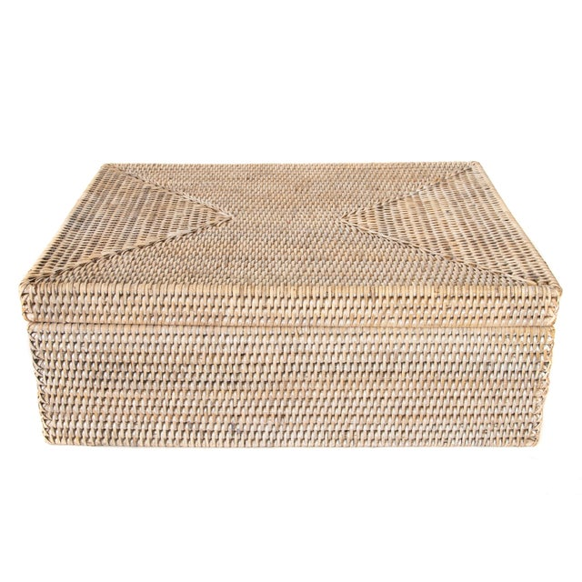 Artifacts Rattan Storage Box With Lid For Sale In Houston - Image 6 of 6