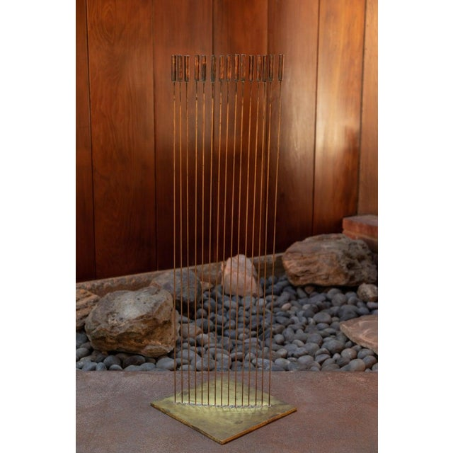 "Large Val Bertoia 15-Rod ""Curve of Sounding Cat Tails"" Sculpture, 2016 For Sale - Image 10 of 13"