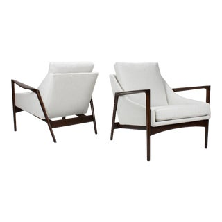 1950s Vintage Ib Kofod Larsen Lounge Chairs- A Pair For Sale
